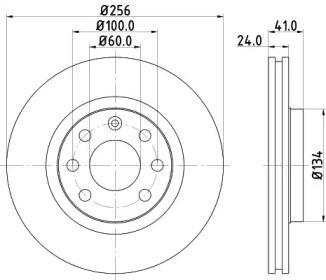 Перфорированный тормозной диск 'MINTEX MDC692'.