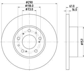 Тормозной диск на Ситроен С25 'MINTEX MDC360'.