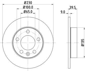 Гальмівний диск MINTEX MDC980C.