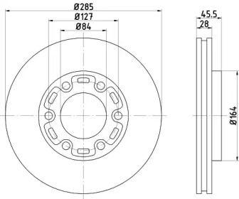 Вентилируемый тормозной диск на Тайота Хайэйс 'MINTEX MDC1785'.
