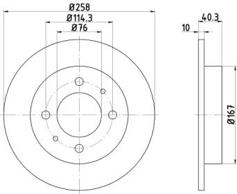 Тормозной диск 'MINTEX MDC1366'.