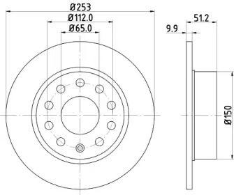 Тормозной диск на VOLKSWAGEN GOL 'MINTEX MDC1640C'.