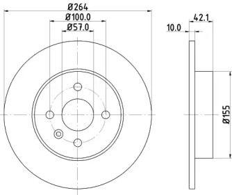 Тормозной диск 'MINTEX MDC1791'.