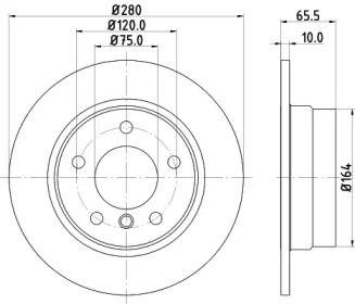Тормозной диск 'MINTEX MDC1731'.
