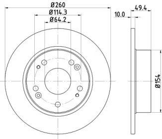 Тормозной диск 'MINTEX MDC1721'.