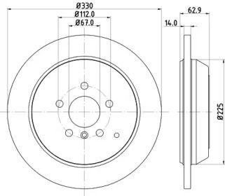 Тормозной диск на Мерседес Р класс 'MINTEX MDC2066'.