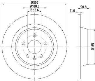 Тормозной диск на Рендж Ровер Эвок 'MINTEX MDC1810'.