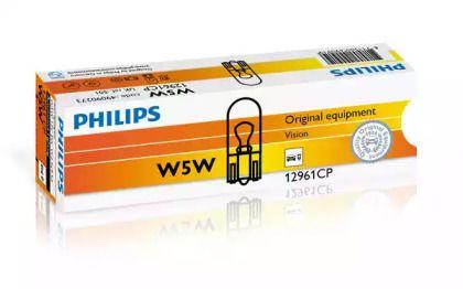 Лампа накаливания, фонарь освещения номерного знака 'PHILIPS 12961CP'.
