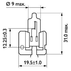Лампа фары 'PHILIPS 12311'.