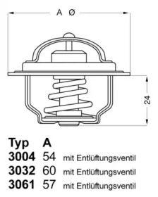 Термостат, охлаждающая жидкость 'WAHLER 3004.74'.