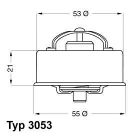 Термостат, охолоджуюча рідина WAHLER 3053.75 технічний малюнок 1