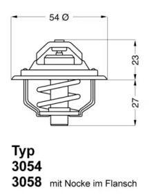 Термостат, охлаждающая жидкость на Опель Монза 'WAHLER 3054.92D50'.