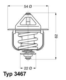 Термостат, охолоджуюча рідина WAHLER 3467.85D.