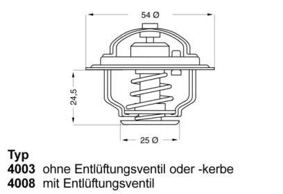 Термостат, охолоджуюча рідина WAHLER 4008.79D.