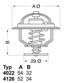 Термостат, охлаждающая жидкость на LANCIA PRISMA 'WAHLER 4022.82D1'.