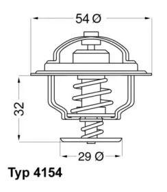 Термостат, охолоджуюча рідина 'WAHLER 4154.88D'.