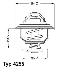 Термостат, охлаждающая жидкость на Опель Монза 'WAHLER 4255.92D'.