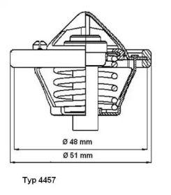 Термостат, охлаждающая жидкость 'WAHLER 4457.82D'.