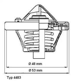 Термостат, охолоджуюча рідина 'WAHLER 4483.82D'.