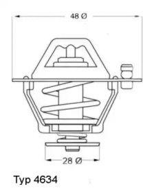 Термостат, охолоджуюча рідина WAHLER 4634.76 технічний малюнок 0