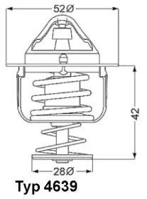Термостат, охолоджуюча рідина на MAZDA CX-5 WAHLER 4639.82D.