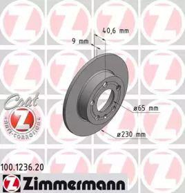 Тормозной диск 'OTTO ZIMMERMANN 100.1236.20'.