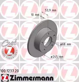 Тормозной диск 'OTTO ZIMMERMANN 100.1237.20'.