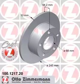 Тормозной диск 'OTTO ZIMMERMANN 100.1217.20'.
