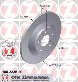 Тормозной диск 'OTTO ZIMMERMANN 100.3335.20'.