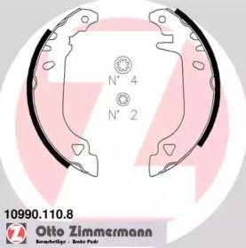 Барабанні гальмівні колодки OTTO ZIMMERMANN 10990.110.8.