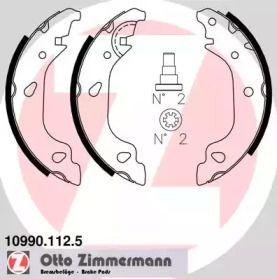 Барабанні гальмівні колодки OTTO ZIMMERMANN 10990.112.5.