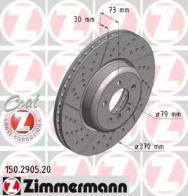 Вентильований гальмівний диск з насічками OTTO ZIMMERMANN 150.2905.20.