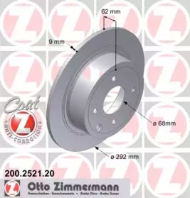 Тормозной диск на Ниссан Куб 'OTTO ZIMMERMANN 200.2521.20'.