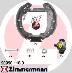 Барабанні гальмівні колодки OTTO ZIMMERMANN 20990.118.0 малюнок 0