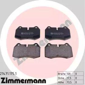 Тормозные колодки 'OTTO ZIMMERMANN 21471.175.1'.