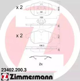 Тормозные колодки OTTO ZIMMERMANN 23402.200.3.