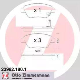 Гальмівні колодки OTTO ZIMMERMANN 23982.180.1 малюнок 0
