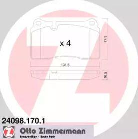 Гальмівні колодки OTTO ZIMMERMANN 24098.170.1.