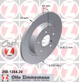 Тормозной диск 'OTTO ZIMMERMANN 250.1354.20'.