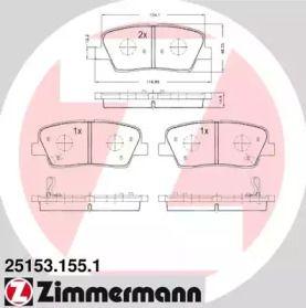 Гальмівні колодки OTTO ZIMMERMANN 25153.155.1.