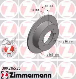 Тормозной диск на Митсубиси Сантамо 'OTTO ZIMMERMANN 380.2165.20'.