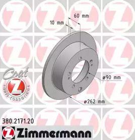 Тормозной диск на Митсубиси Эклипс 'OTTO ZIMMERMANN 380.2171.20'.
