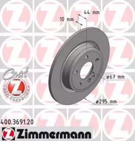 Гальмівний диск на Mercedes-Benz GLA  OTTO ZIMMERMANN 400.3691.20.