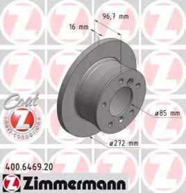 Гальмівний диск на Мерседес Г Клас  OTTO ZIMMERMANN 400.6469.20.