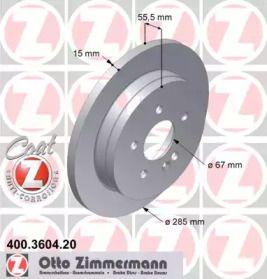 Тормозной диск на Мерседес М класс 'OTTO ZIMMERMANN 400.3604.20'.