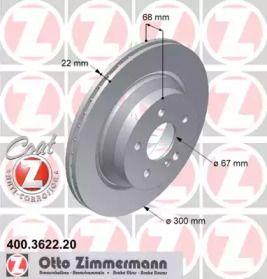 Вентилируемый тормозной диск на Мерседес ГЛК 'OTTO ZIMMERMANN 400.3622.20'.