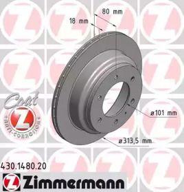 Вентилируемый тормозной диск на Опель Монтерей 'OTTO ZIMMERMANN 430.1480.20'.