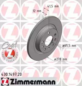 Тормозной диск 'OTTO ZIMMERMANN 430.1497.20'.