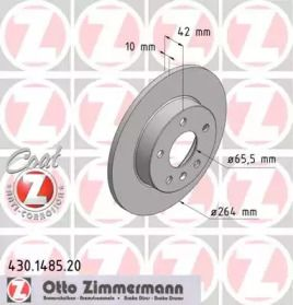 Тормозной диск 'OTTO ZIMMERMANN 430.1485.20'.