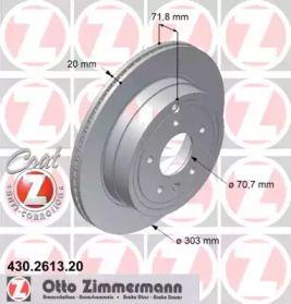 Вентилируемый тормозной диск на Опель Антара 'OTTO ZIMMERMANN 430.2613.20'.